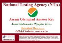 Assam Olympiad Answer Key