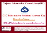 GIC Information Assistant Answer Key