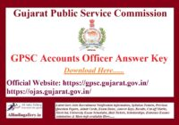 GPSC Accounts Officer Answer Key