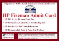 HP Fireman Admit Card