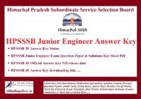 HPSSSB JE Answer Key