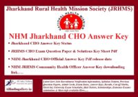 Jharkhand CHO Answer Key