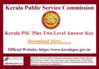 Kerala PSC Plus Two Level Answer Key