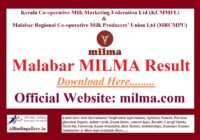Malabar MILMA Result