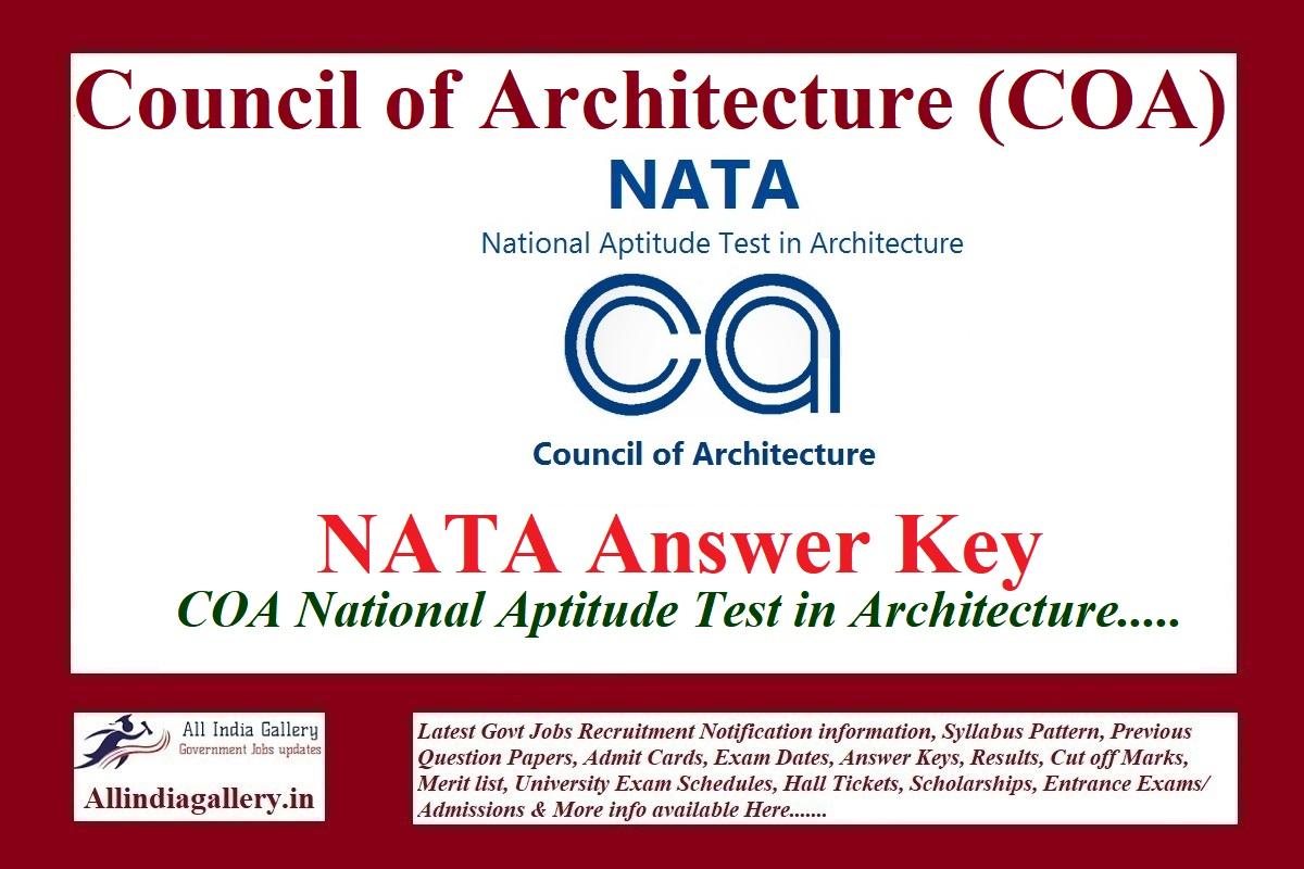 NATA Answer Key