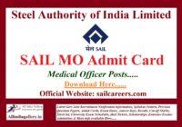 SAIL MO Admit Card