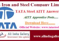 TATA Steel AITT Answer Key