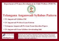 TS Anganwadi Syllabus Pattern