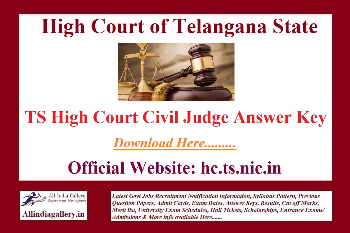 TS High Court Civil Judge Answer Key