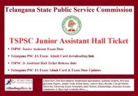TSPSC Junior Assistant Hall Ticket