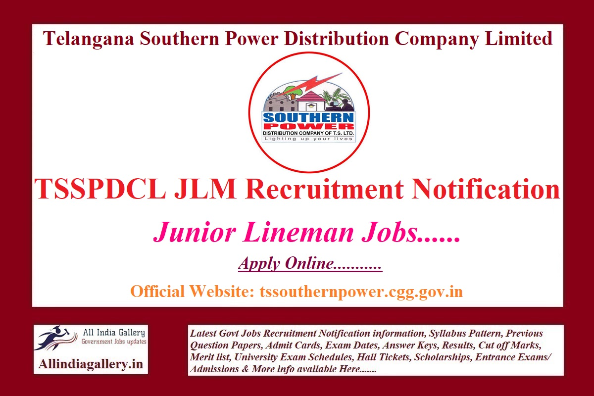 TSSPDCL JLM Recruitment Notification