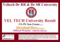 VEL TECH University Result