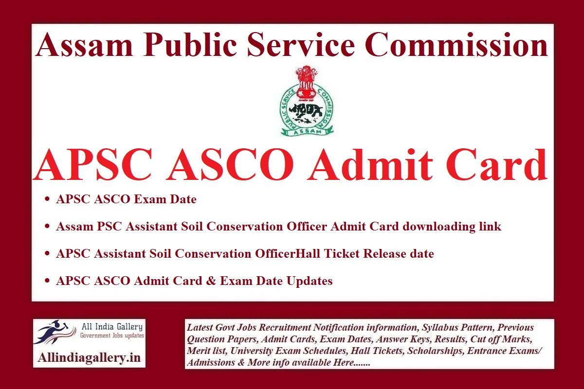 APSC ASCO Admit Card