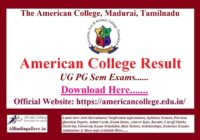 American College Result