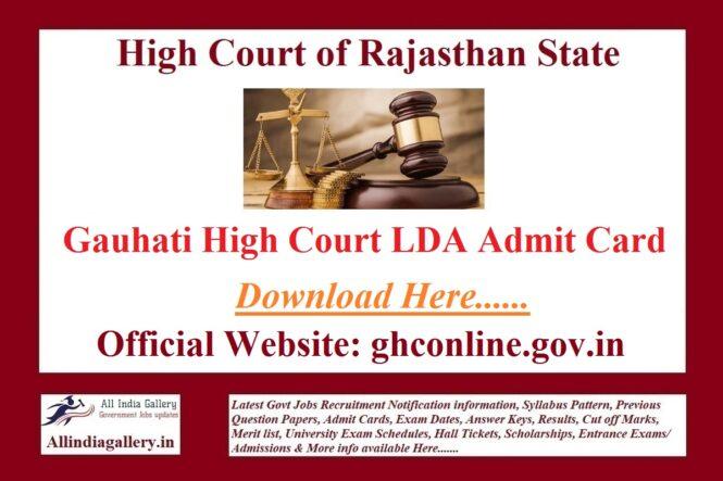 Gauhati High Court LDA Admit Card