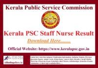 Kerala PSC Staff Nurse Result