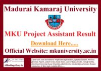 MKU Project Assistant Result