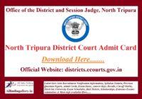 North Tripura District Court Peon Admit Card