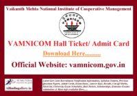 VAMNICOM Trainee Clerk Hall Ticket
