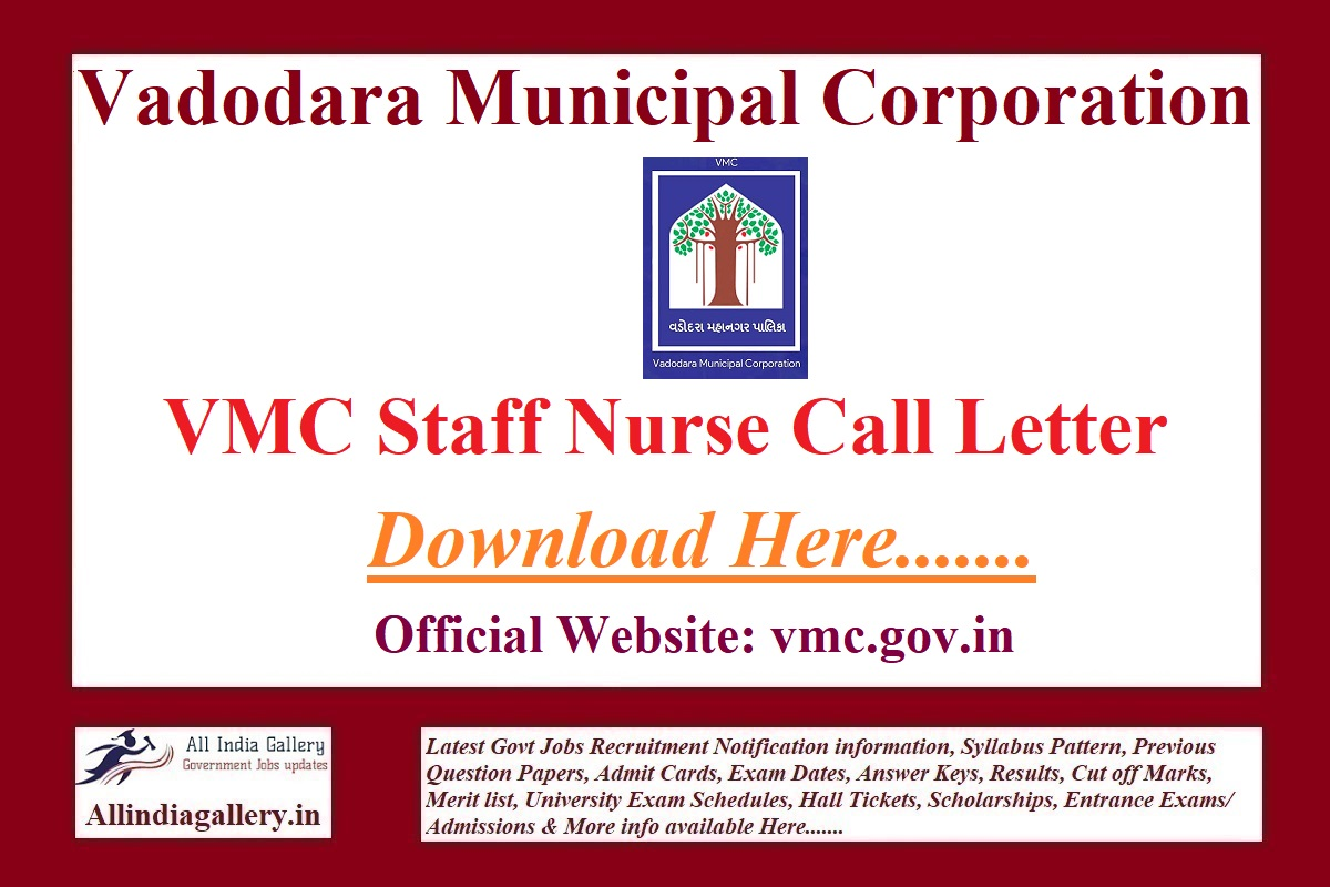 VMC Staff Nurse Call Letter