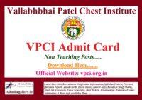 VPCI Admit Card