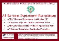 APPSC Revenue Department Recruitment Notification