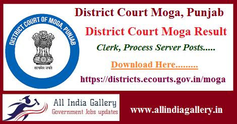 District Court Moga Result