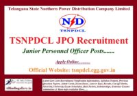 TSNPDCL JPO Recruitment Notification