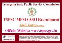 TSPSC MPSO ASO Recruitment Notification