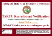 TSRTC Recruitment Notification