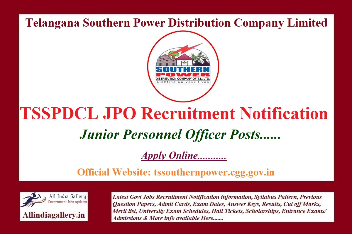 TSSPDCL JPO Recruitment Notification