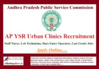 AP YSR Urban Clinics Recruitment Notification