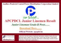 APCPDCL Junior Linemen JLM Result