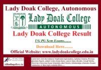 Lady Doak College Result