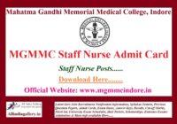 MGMMC Staff Nurse Admit Card