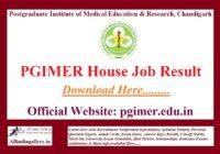 PGIMER House Job Result