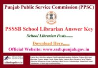 PSSSB School Librarian Answer Key