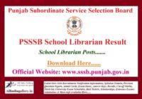 PSSSB School Librarian Result