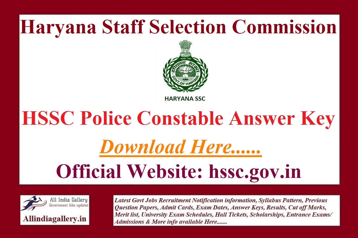 Haryana GD Constable Answer Key