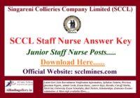 SCCL Staff Nurse Answer Key