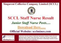 SCCL Staff Nurse Result