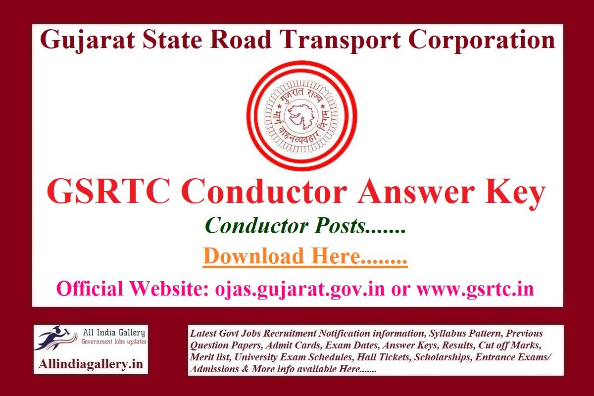 GSRTC Conductor Answer Key