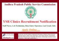 YSR Clinics Recruitment Notification