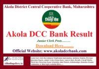 Akola DCC Bank Junior Clerk Result