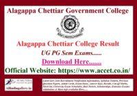 Alagappa Chettiar College Result