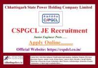 CSPGCL JE Recruitment