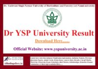 Dr YSP University JOA Result
