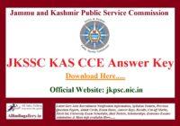 JKPSC KAS Answer Key