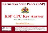 KSP CPC Key Answer