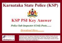 KSP Civil PSI Key Answer